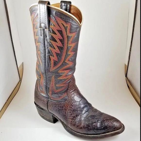 3143207aba9 🐢Nocona EXOTIC SEA TURTLE Western Cowboy Vintage